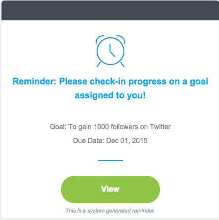Employee Goal Progress Notification