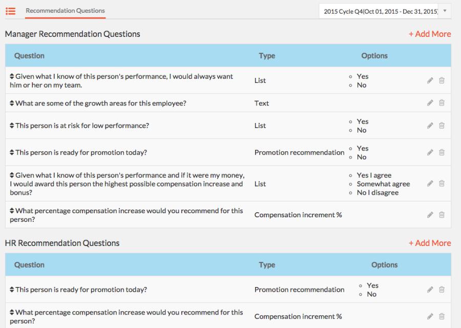 Recommendation Questionnaire