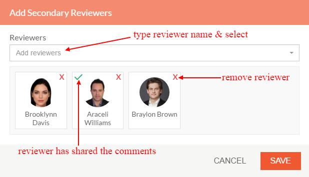 reviewer popup