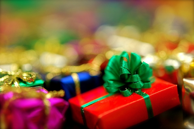 image of holiday gifts